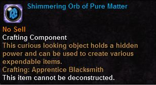 Shimmering Orb of Pure Matter