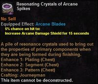 Resonating crystals arcanespikes