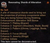 Resonating shards alteration