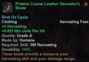 Pristine coarse leather harvester's boots