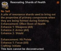 Resonating shards health
