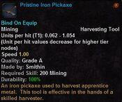 Pristin iron pickaxe