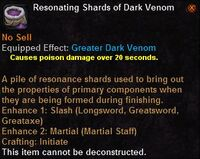 Resonating shards dark venom