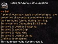 Focusing crystal countering