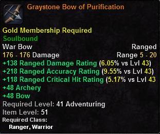 Graystone Bow of Purification