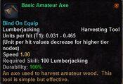 Basic amateur axe