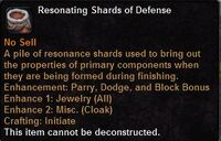 Resonating shards defense