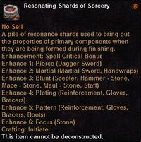 Resonating shards sorcery