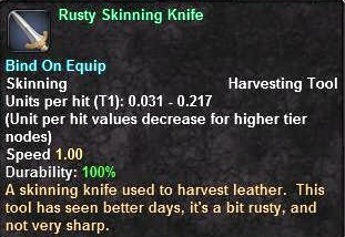 Rusty Skinning Knife