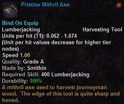 Pristine mithril axe