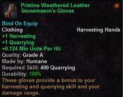 Pristine weathered leather stonemason's gloves