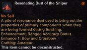 Resonating dust the sniper