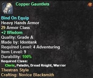 Copper Gauntlets