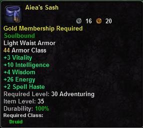 Aiea's Sash