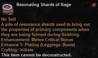 Resonating shards rage
