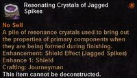 Resonating crystals jaggedspikes