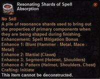Resonating shards spell absorption