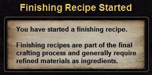 Hint finishing recipe