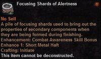 Focusing shard alertness