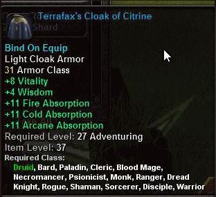 Terrafax's Cloak of Citrine-Zwischenablage