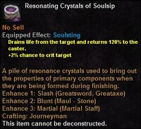 Resonating crystals soulsip
