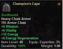 Champion's Cape