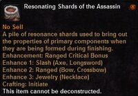 Resonating shards the assassin