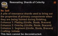 Resonating shards celerity
