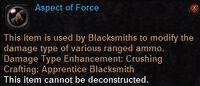 Aspect of force