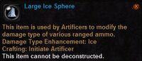 Large ice sphere