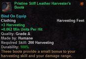 Pristine stiff leather harvester's boots