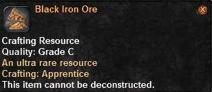 11 Black Iron ore T3UB