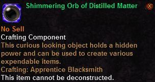 Shimmering Orb of Distilled Matter