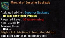 Manual of superior backstab