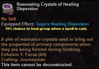 Resonating crystals healing dispersion