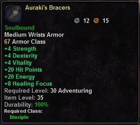 Auraki's Bracers
