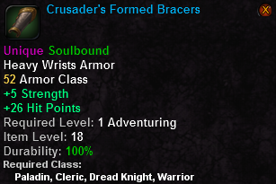 Crusader's Formed Bracers