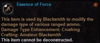 Essence of force