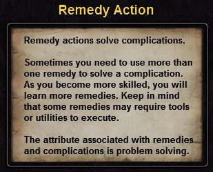 Hint remedy action