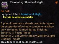 Resonating shards might