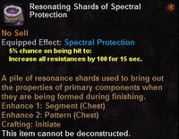 Resonating shards spectral protection