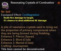 Resonating crystals combustion