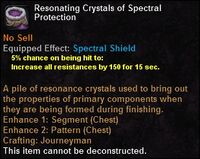 Resonating crystals spectralprotection
