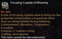 Focusing crystal wizardry
