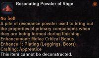 Resonating powder rage