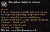 Resonating crystals defense