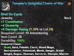 Templar's Delightful Charm of War
