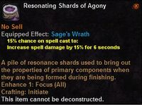 Resonating shards agony