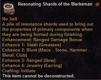 Resonating shards the marksman