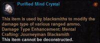 Purified mind crystal